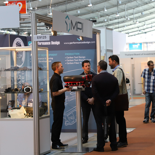 Engine testing at Engine Expo in Stuttgart