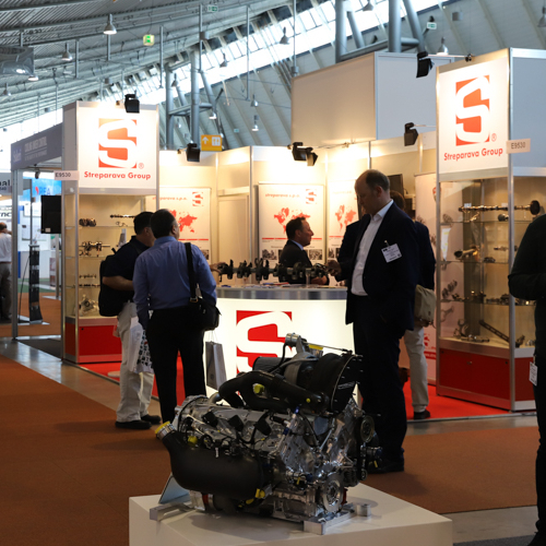 Engine components at Engine Expo in Stuttgart